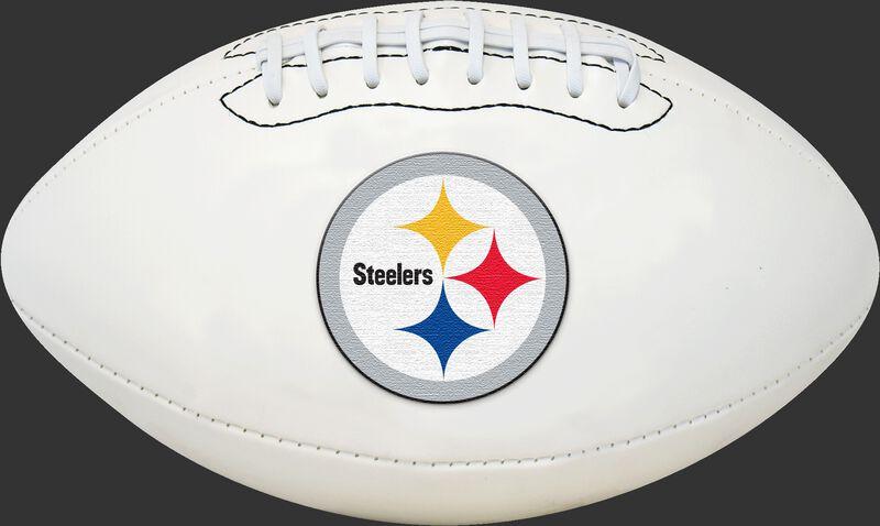 White NFL Pittsburgh Steelers Football With Team Logo SKU #06541082811