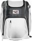 Front of a white Franchise baseball backpack with gray accents and a white Rawlings patch - SKU: FRANBP-W image number null