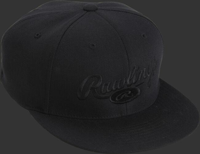 Front Top of Rawlings Signature Black Logo Hat - SKU #RWRSH
