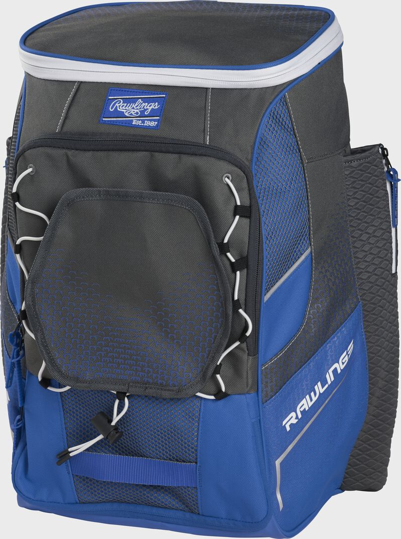 Front right angle of a royal Impulse backpack - SKU: IMPLSE-R