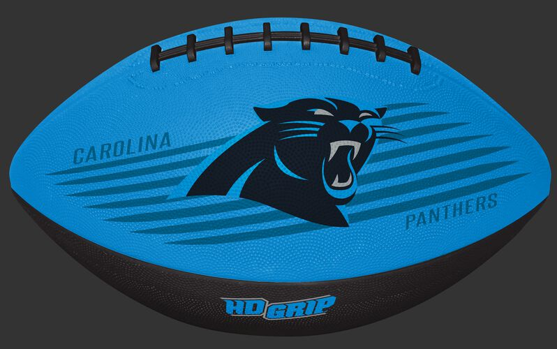 Blue and Black NFL Carolina Panthers Downfield Youth Football With Team Logo SKU #07731090121