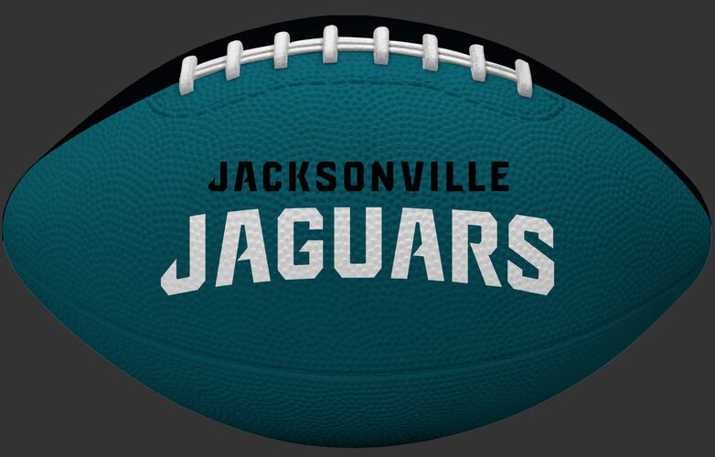 Green side of a Jacksonville Jaguars Gridiron tailgate football with team name SKU #09501091121