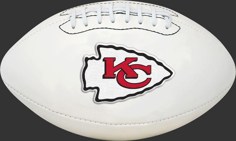 White NFL Kansas City Chiefs Football With Team Logo SKU #06541071811