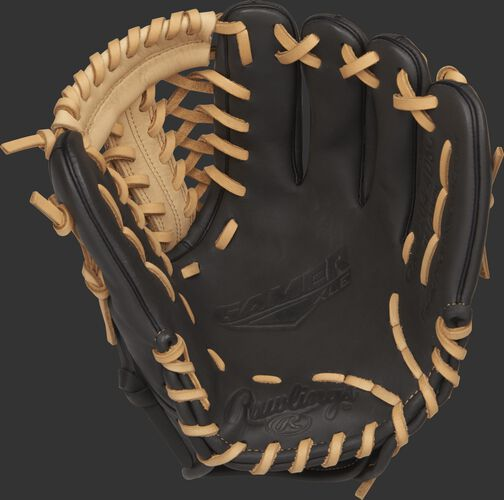 GXLE204-4DSC 11.5-inch Rawlings GXLE baseball glove with a dark shadow palm and camel laces