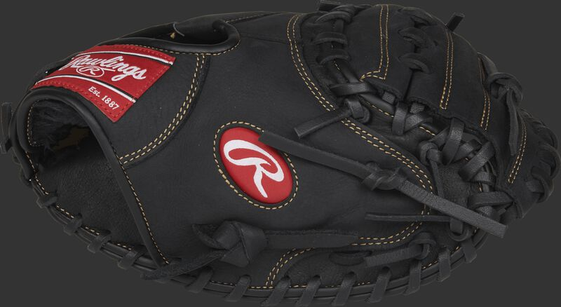 RCM325B Renegade 32.5-inch catcher mitt with a black thumb and black One-Piece Solid web
