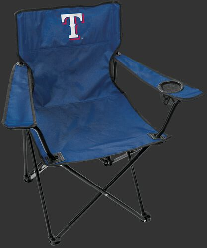 Front of Rawlings Blue MLB Texas Rangers Gameday Elite Chair With Team Logo SKU #06110022111