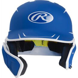 Mach Junior Two-Tone Matte Helmet with EXT Flap Royal