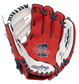 A red/white Rawlings Philadelphia Phillies youth glove with the Phillies logo stamped in the palm - SKU: 22000020111 image number null