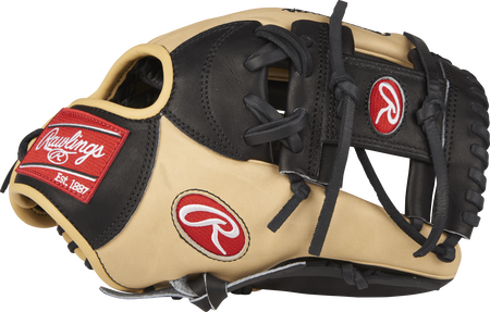 Thumb view of a PRONP4-2BC Heart of the Hide 11.5-inch infield glove with a black I web
