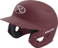 Left angle view of a Rawlings MACH helmet with a one-tone matte maroon shell image number null