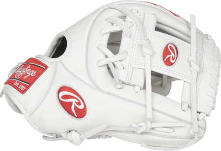 Thumb view of a white RLA715-2W Liberty Advanced 11.75-inch fastpitch infield glove with a white I web