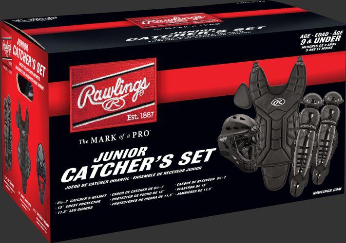 A black Rawlings Players Series catchers set box - SKU: PLCSY-B