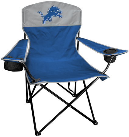 NFL Detroit Lions Lineman chair with team colors and logo on the back