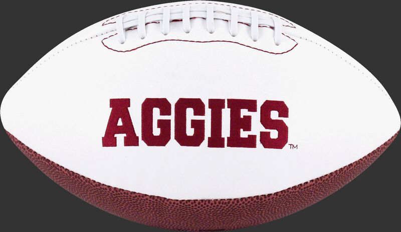 White NCAA Texas A&M Aggies Football With Team Name SKU #05733061121