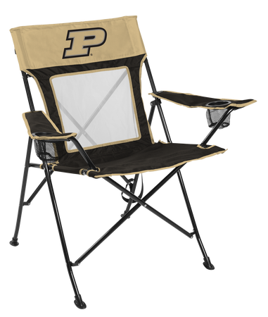 Front of Rawlings Black and Gold NCAA Purdue Boilermakers Game Changer Chair With Team Logo SKU #00643053111