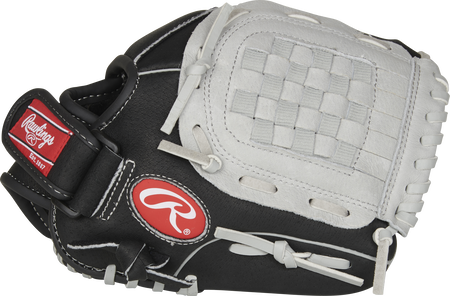 Thumb of a black SC105BGB 10.5-inch Sure Catch infield/outfield glove with a grey Basket web