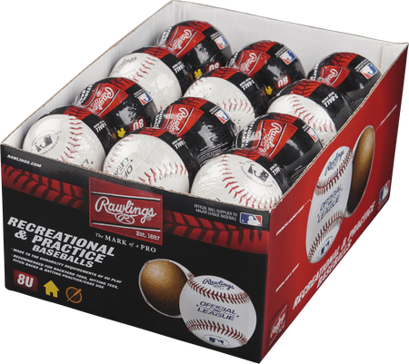 24 Pack 8U Recreational Baseballs