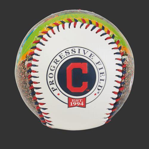 Cleveland Indians team logo on a MLB stadium baseball