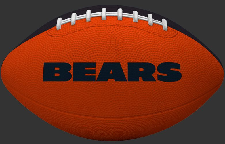 Orange side of a Chicago Bears rubber Gridiron football with team name SKU #09501062121