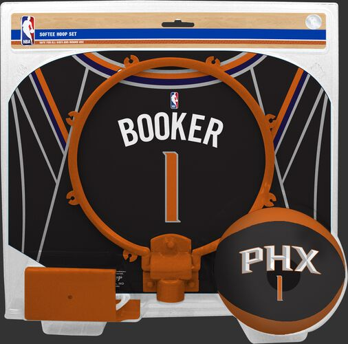 A NBA Phoenix Suns Devin Booker softee hoop set with his name an number on the backboard - SKU: 03544546511