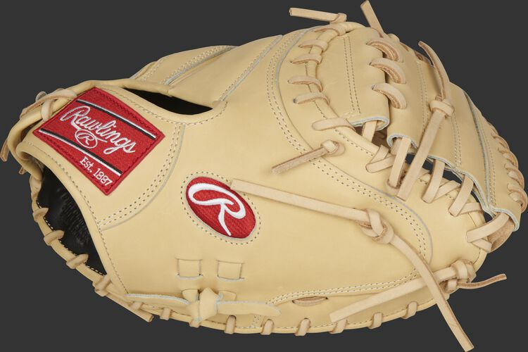 Thumb of a camel 2021 Pro Preferred 34-Inch catcher's mitt with a camel 1-Piece solid web - SKU: PROSCM43C