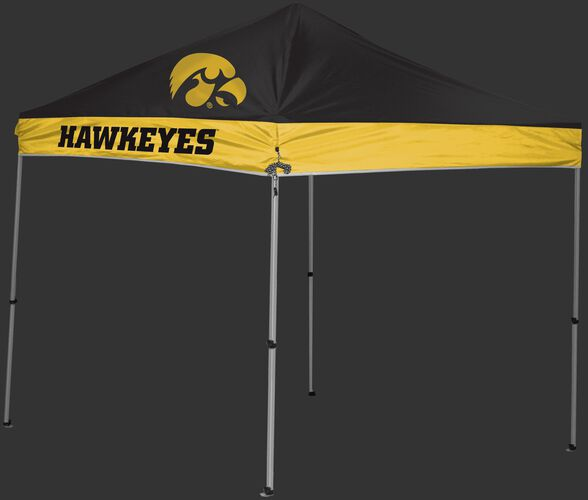 Rawlings Black and Yellow NCAA Iowa Hawkeyes 9x9 Canopy Shelter With Team Logo and Name SKU #04033075111