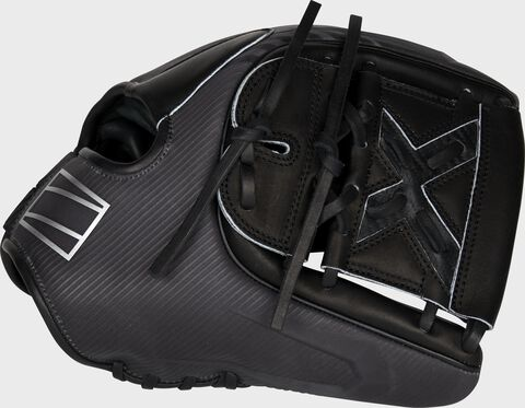 Thumb of a black 2022 REV1X 11.75-Inch infield/pitcher's glove with a black 2-Piece solid web - SKU: REV205-9X