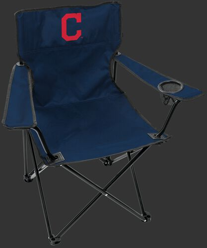 Front of Rawlings Navy Blue MLB Cleveland Indians Gameday Elite Chair With Team Logo SKU #06110014111