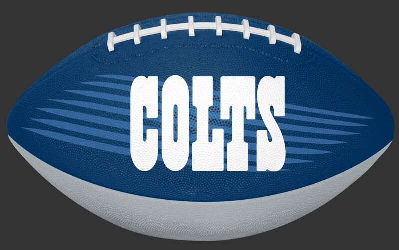 Blue and White NFL Indianapolis Colts Downfield Youth Football With Team Name SKU #07731070121