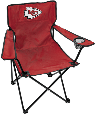 NFL Kansas City Chiefs Gameday Elite Chair with team colors and logo on the back