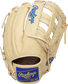 Back of a camel Heart of the Hide R2G Kris Bryant pattern glove with a royal Rawlings patch - SKU: PRORKB17 image number null