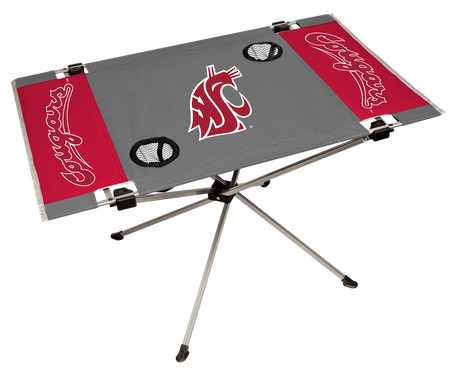 NCAA Washington Huskies Endzone table with team colors and team logos