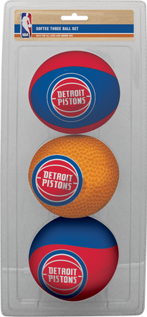 NBA Detroit Pistons Three-Point Softee Basketball Set