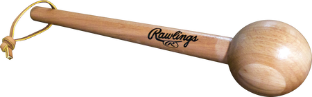A Rawlings Glove Mallet tool for breaking in gloves