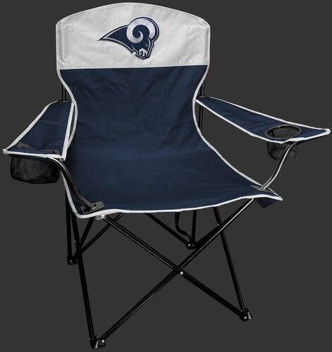 Front of Rawlings Silver and Navy NFL Los Angeles Rams Lineman Chair With Team Logo SKU #31021073111