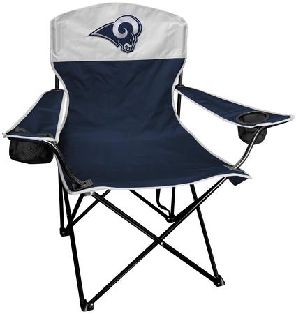 NFL Los Angeles Rams Lineman chair with team colors and logo on the back
