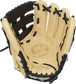 Camel palm of a G57 Series Brandon Crawford glove with a black and laces - SKU: PROS204-BC35 image number null