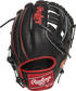 Back of a black Isiah Kiner-Falefa Heart of the Hide infield glove with a black H-web and red Rawlings patch - SKU: RSGPRO205-IKF9 image number null