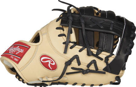 PROSDCTC Pro Preferred 13-inch first base mitt with a camel palm and black single post double bar web