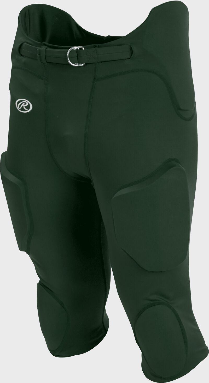 Front of Rawlings Dark Green Youth Lightweight Football Pants - SKU #YFPL