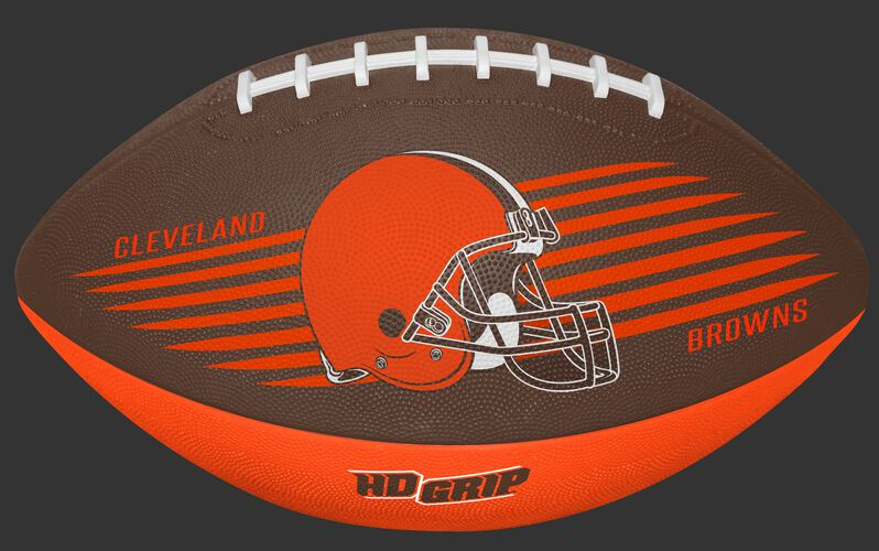 Brown and Orange NFL Cleveland Browns Downfield Youth Football With Team Logo SKU #07731064121