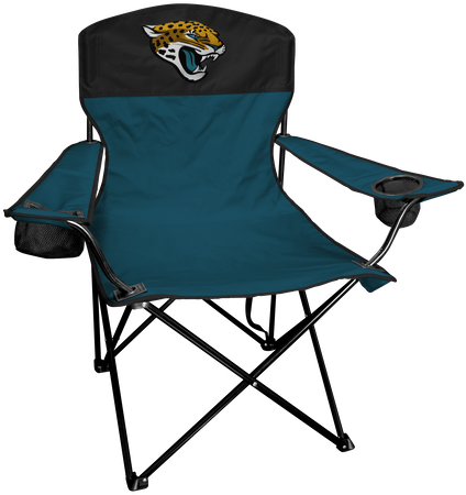 NFL Jacksonville Jaguars Lineman chair with team colors and logo on the back