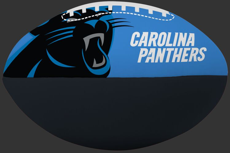 NFL Carolina Panthers Big Boy softee football featuring team logos and printed in team colors and team name SKU #03211090111
