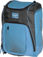 Front angle of a Columbia blue Franchise backpack with gray accents and Columbia blue Rawlings patch logo - SKU: FRANBP-CB image number null