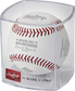 The NLCS19CHMP Official MLB NLCS Champions baseball in a clear display cube image number null