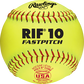 """A USA RIF 11"""" softball with red stitching and a red USA softball stamp - SKU: R11RYSA image number null"""