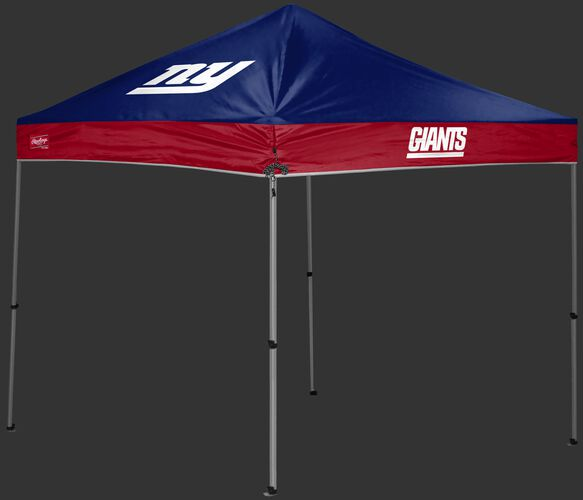 A blue/red New York Giants 9x9 shelter with a team logo on the left side - SKU: 03231078112