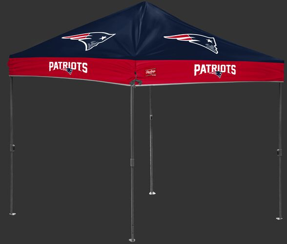 A NFL New England Patriots 10x10 canopy with team logos on the top - SKU: 02231076111