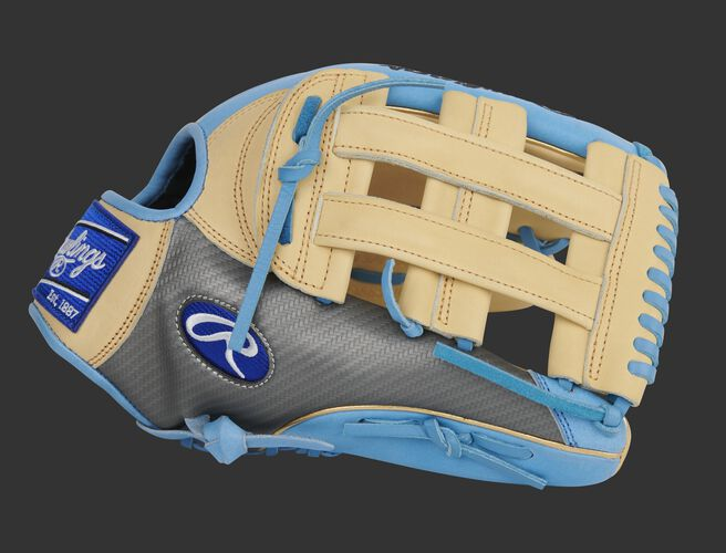 Hyper Shell thumb of an exclusive Heart of the Hide 13-Inch outfield glove with a camel H-web - SKU: PROBH3-6CCBG