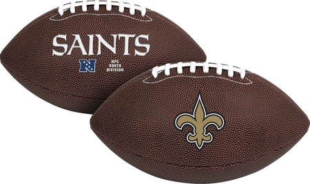 NFL New Orleans Saints Air-It-Out youth football with team logo